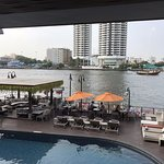 Pool with Chao Phraya in background