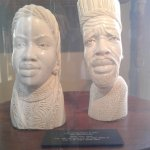 Carved ivory heads