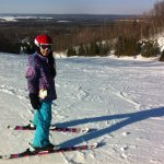 A happy skier at Snow Valley, Barrie, Ontario.