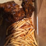 The ribs, meaty and tender
