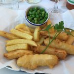 Children's halloumi sticks, peas, and unlimited chips !
