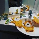 Cadeau de l'hôtel pour nos 3 enfants (mention spéciale au savon en forme de crocodile)