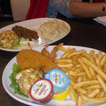 Various Seafood's Fried Flounder, and Crab Cake specials