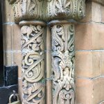 Pillar detail on Sterne Mausoleum (Sept. 2017)