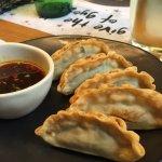 Prawn gyoza (fried prawn dumplings)