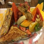 Great Tuna Sandwich with Awesome Fruit Arrangement