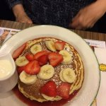 Great Pancakes with Bananas & Strawberries