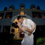 Ending the night in front of the Inn - Weddings at Five Bridge Inn [Photo: Michael J. Charles]