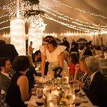 Weddings at Five Bridge Inn - Ceremony Tent [Photo: Blueflash Photography]