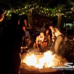 Late night with friends and family - S'mores at Five Bridge Inn [Photo: Seth Kaye Photography]