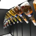 Colorful bottles of Bols.