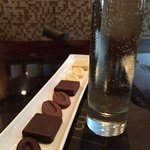 Few things better than cold champagne and chocolate