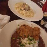 Crabcake & Shrimp Alfredo and Red Beans & Rice w/ Crispy Chicken