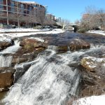 Reedy River Falls with snow