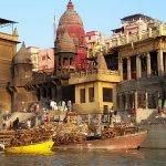 Varanasi Walks - the woodpiles along the crematorium ghats ©conniemotz.com