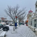 Front Sidewalk Rehoboth Avenue entrance in Dec snow.