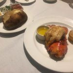 Lobster and baked potato