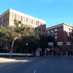 Book depository and 6th Floor Museum, photo taken from fatal shot location.