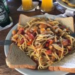 Delicious Vegetarian Spaghetti with a low budget.