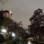 Along the riverwalk at Christmas