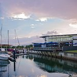 The Bluewater Bar & Grill overlooking the Bluewater marina