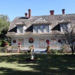 Christmas decorations at Mistletoe Cottage, Jekyll Island Club historic properties.