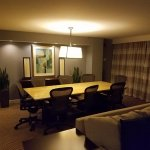 The table/meeting area in the presidential suite
