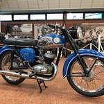A beautifully-presented 1969 BSA Bantam Super D14/4, kindly photographed for me by the Museum.