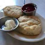 Biscuit with Raspberry Jam and Butter