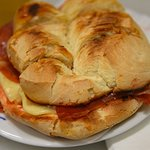 Toasted ham and cheese langosta - um!