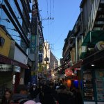 The fashion street with full of cafes & restaurants
