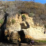 A cave to climb in at Spooner's Cove