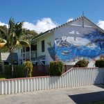 New mural art at Dolphin Lodge