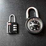 Neither of these size locks work with the dorm room locker at Jammin' Hostel