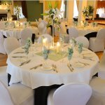 Custom linens and table settings