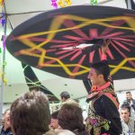 Tanoura dancer in New Year's Eve party tent
