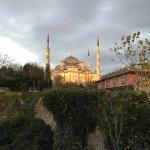 Vista desde la terraza del desayuno (mezquita azul)