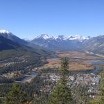 Banff and its valley from the top of Tunnel Mountain