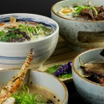 Variety of  Ramen dishes from chef koko and his team only here at NAMBA