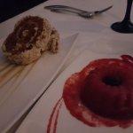 Carrot cake & Raspberry Sorbet