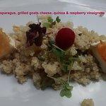 From the vegetarian set menu