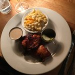 Smoked Chicken with Mac and cheese