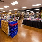 The interior of Smoky Mountain Knife Works retail showroom in Sevierville, TN.