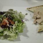 Assiette de foie gras.