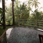 Raining into our pool!