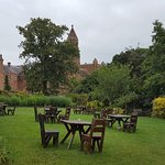 Abbey, cafe and outside seating