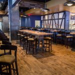 Communal Tables at the bar perfect for gamewatching & corporate happy hours