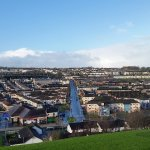 The Bogside as seen from the walls during the walking tour