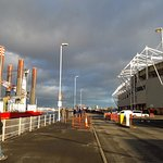 MIDDLESBROUGH FC FOOTBALL STADIUM SITTING ON THE BANKS OF THE RIVER TEES