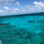 Beautiful sandbar for snorkeling with rays and other fish